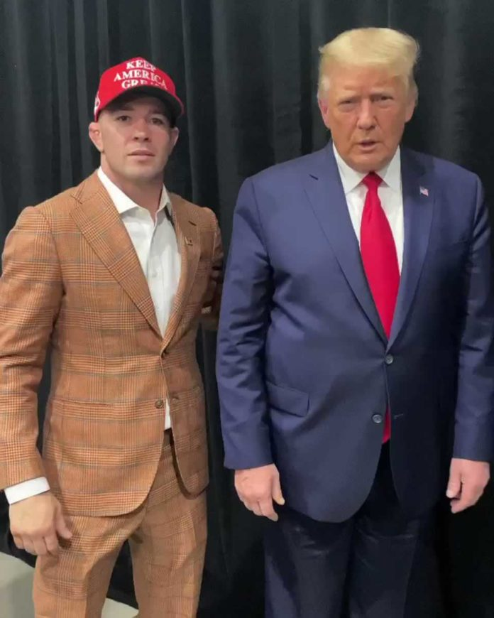 President Trump supports UFC fighter Colby Covington