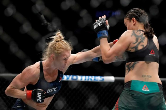 Former UFC womens bantamweight champion Holly Holm in action