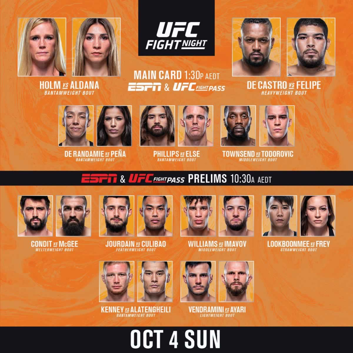 UFC Fight Island 4 card