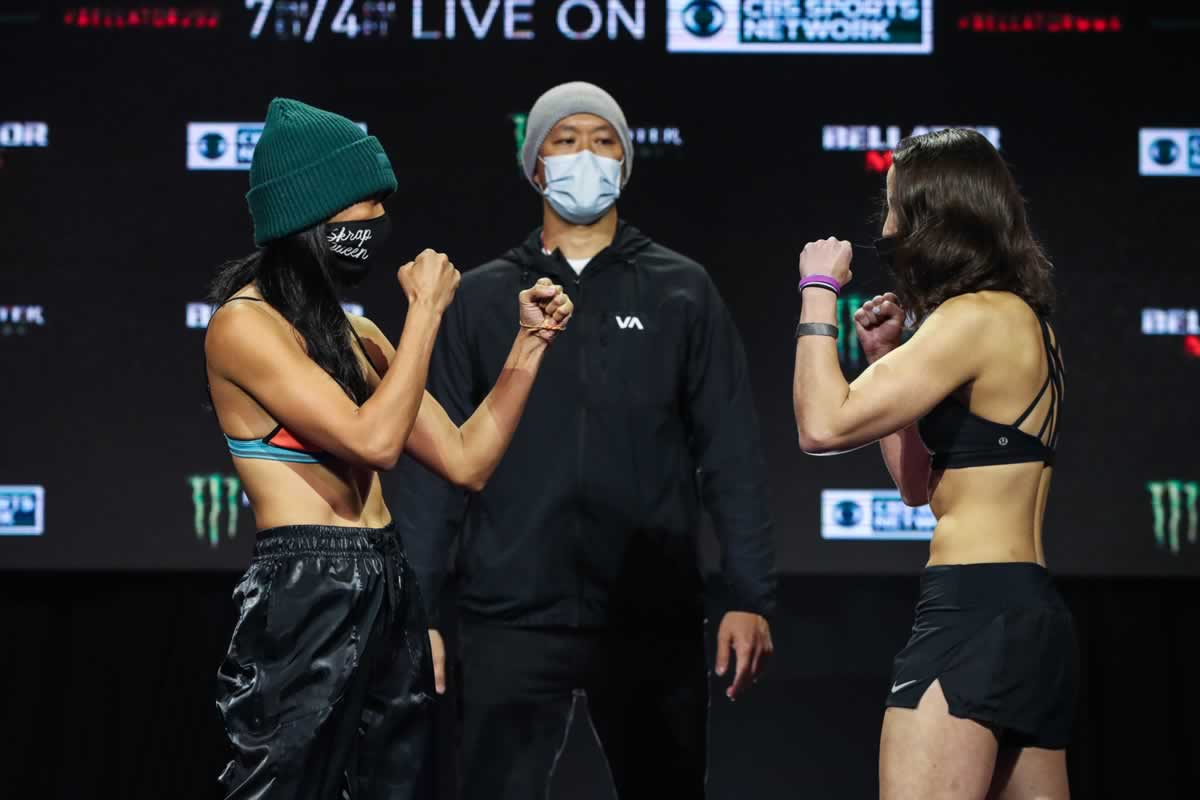 Bellator 252 weigh-in faceoff