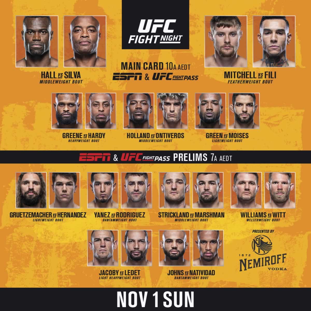 UFC Vegas 12 fight card