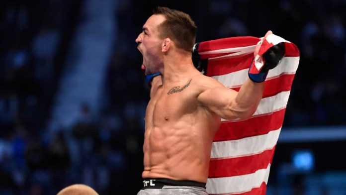 Michael Chandler victorious at UFC 257