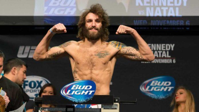 UFC welterweight Michael Chiesa weigh-in