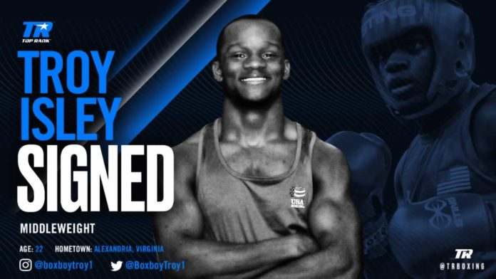 Troy Isley signs promotional contract with Top Rank