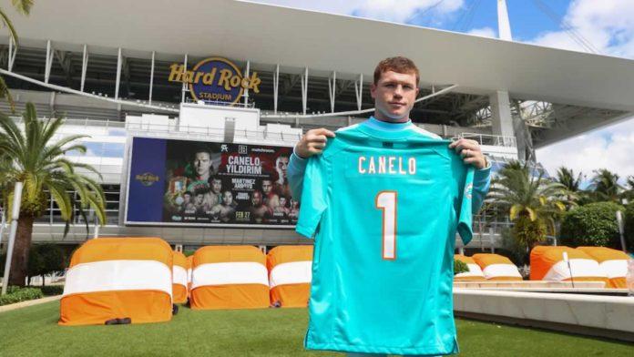 Saul Canelo Alvarez at Hard Rock Stadium in Miami Gardens