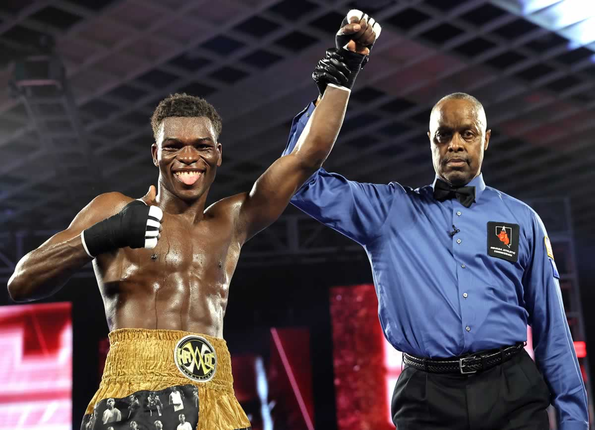Richard Commey victorious