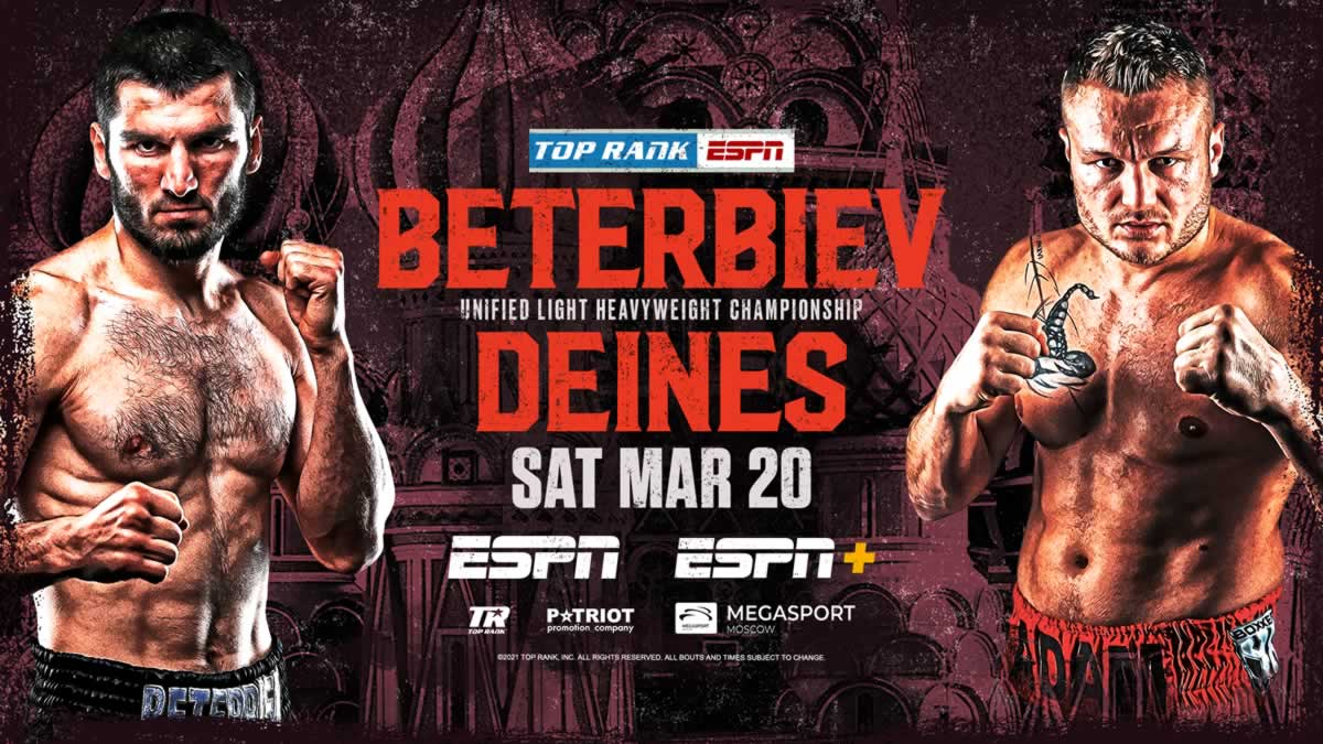 Beterbiev vs Deines start time announced, undercard set – Top Rank Boxing live from Moscow