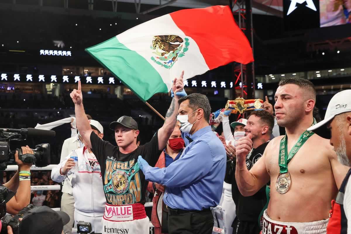 Canelo Alvarez victorious over Avni Yildirim