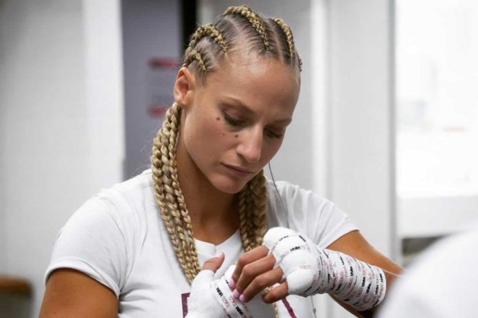 Ebanie Bridges expects to deliver KO or smashed crab on a
