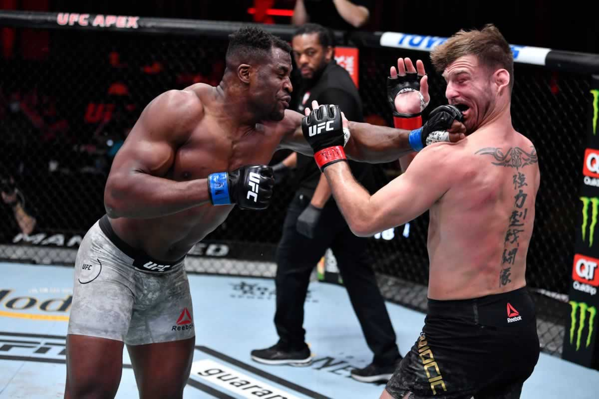 Stipe Miocic vs Francis Ngannou 2 complete combat video highlights from UFC 260 thumbnail