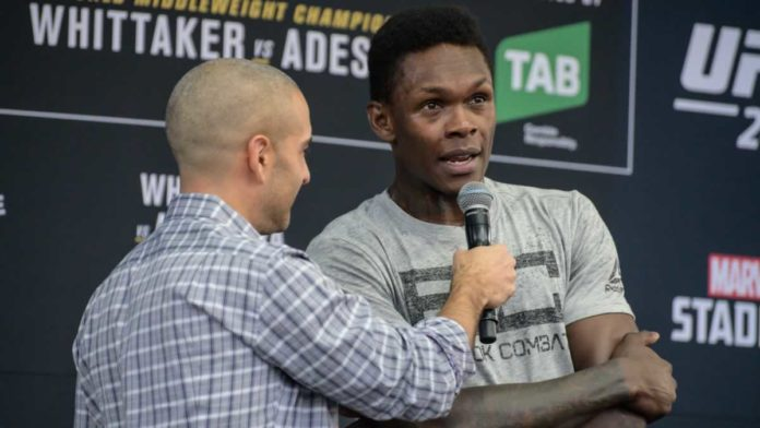 UFC middleweight champion Israel Adesanya