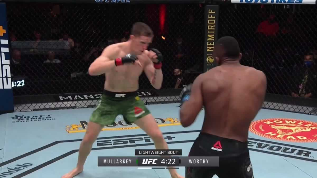 Jamie Mullarkey stops Khama Worthy in less than a minute at UFC 260 (video) thumbnail