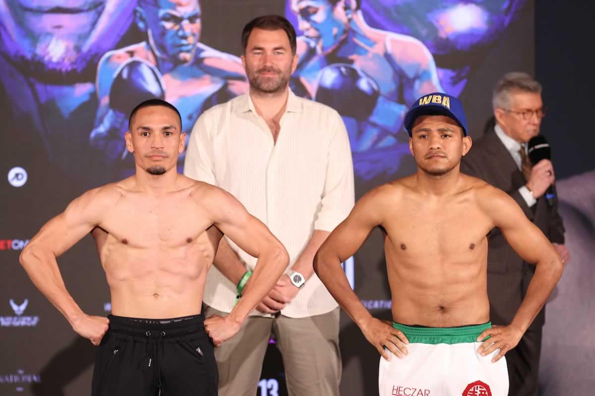 Juan Francisco Estrada vs Roman 'Chocolatito' Gonzalez 2 weigh-in results (video)