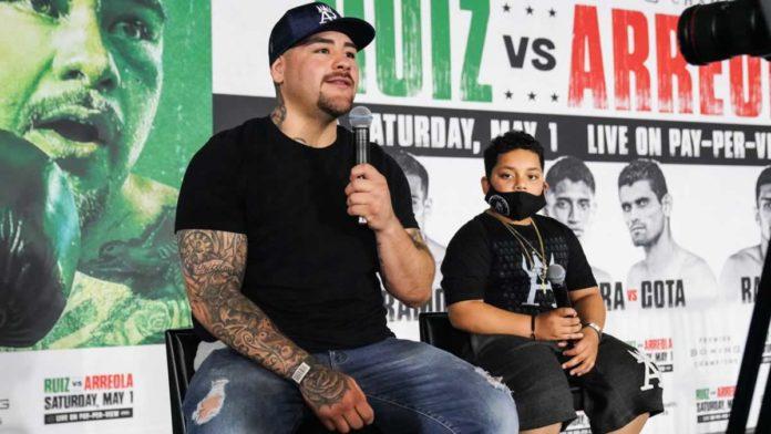 Andy Ruiz Jr at press conference
