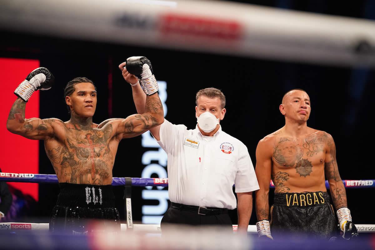Conor Benn victorious over Samuel Vargas