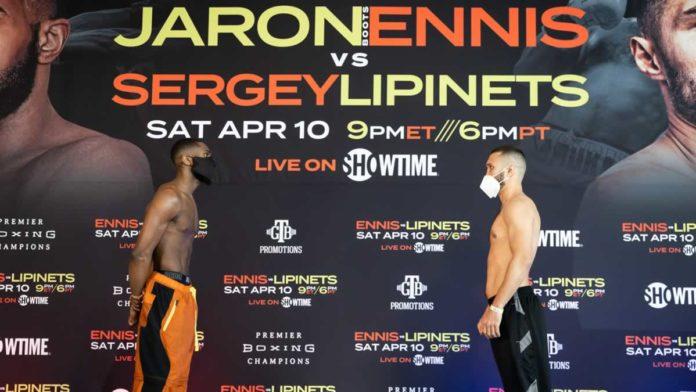 Jaron Ennis vs Sergey Lipinets