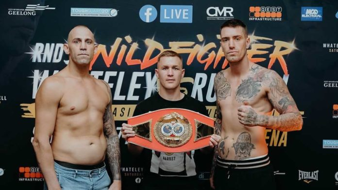 Wildfighter Round 5 Jason Whateley vs Aaron Russell weigh-in