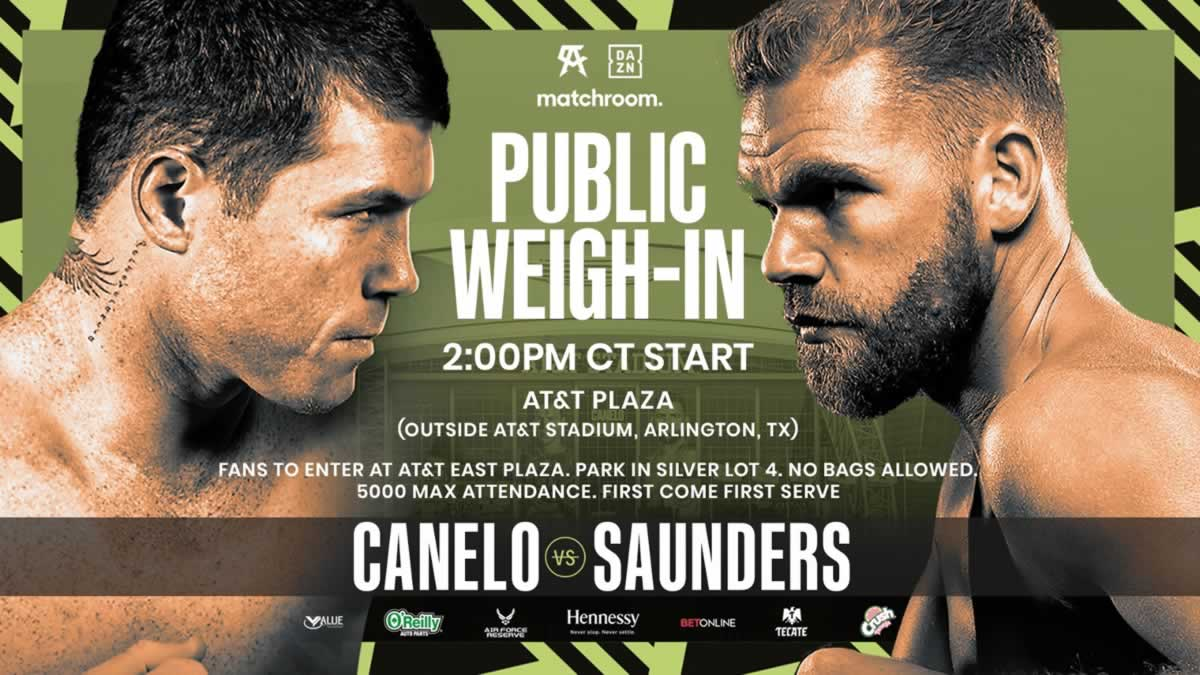 Canelo vs Saunders weigh-in open to the public