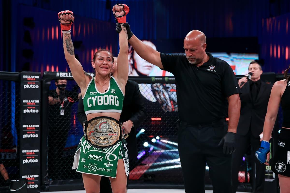 Cris Cyborg retains Bellator featherweight title