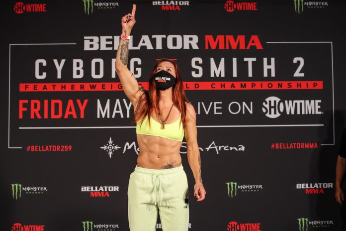 Cris Cyborg weighs-in