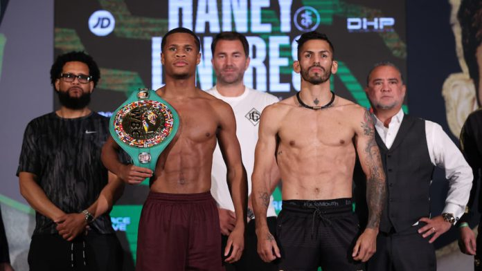 Devin Haney and Jorge Linares weigh-in