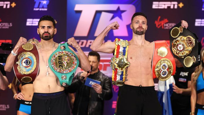 Jose Ramirez vs Josh Taylor weigh-in
