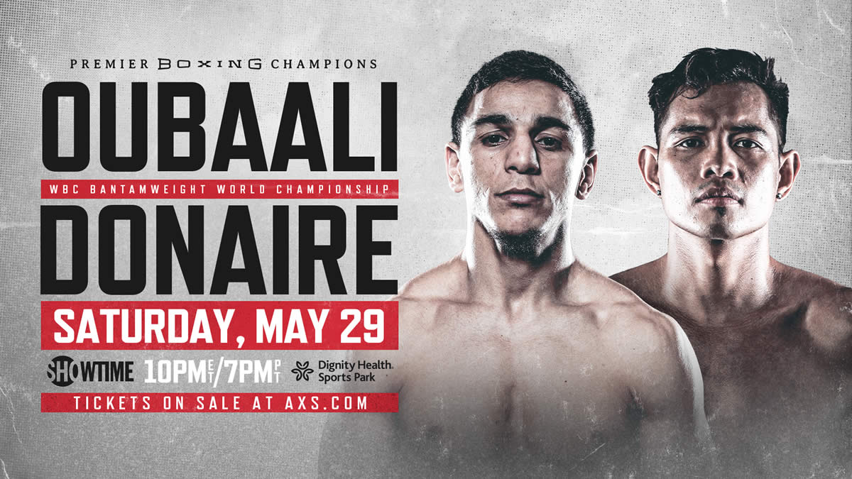 Oubaali vs Donaire three-fight card set live on Showtime
