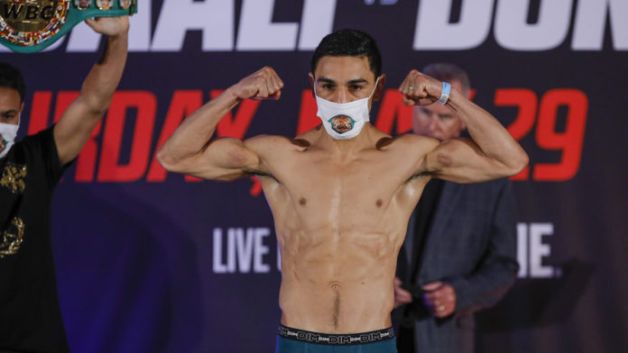 Nordine Oubaali weigh-in