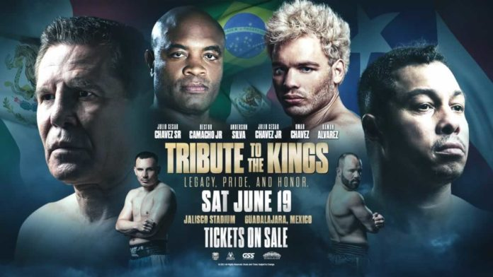 Anderson Silva vs Julio Cesar Chavez Jr headlines Tribute to the Kings live on pay-per-view