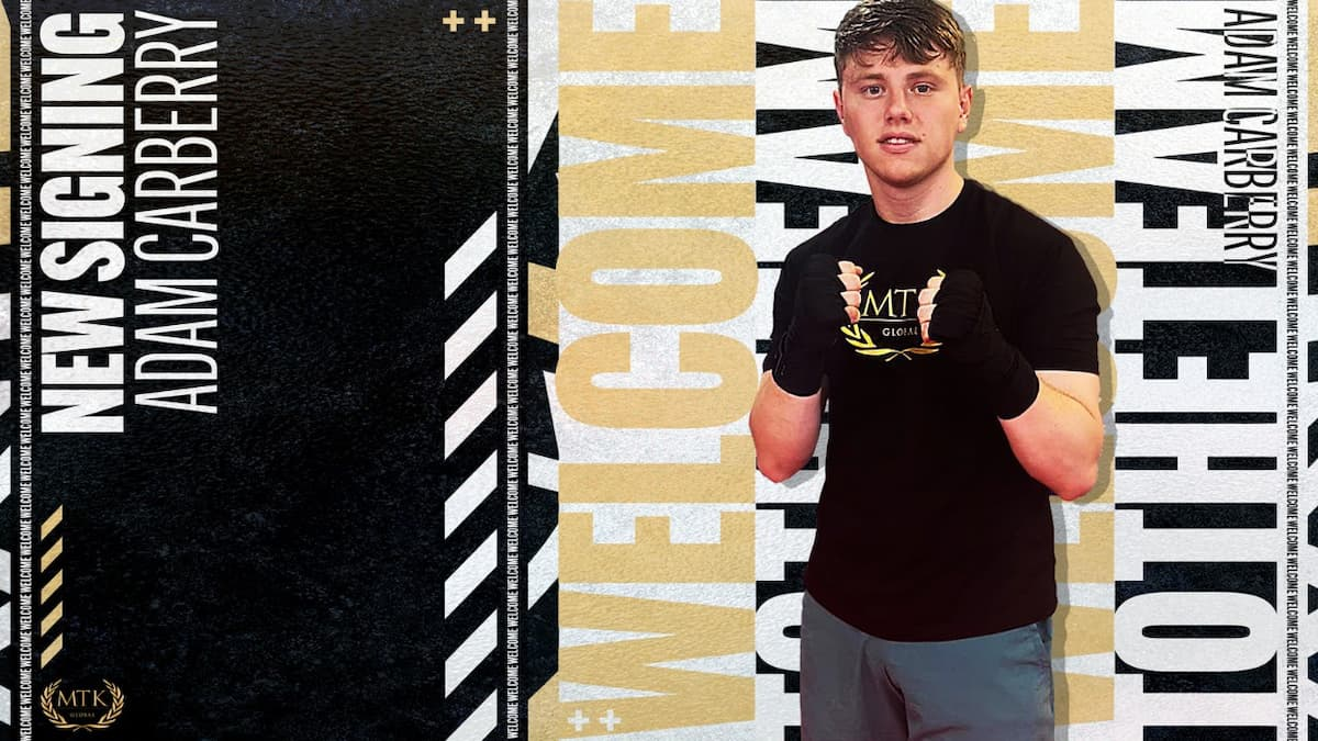 Adam Carberry signs with MTK Global