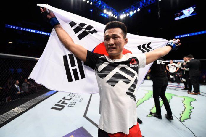 UFC featherweight Chan Sung Jung aka The Korean Zombie