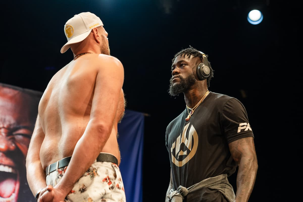 Deontay Wilder and Tyson Fury faceoff