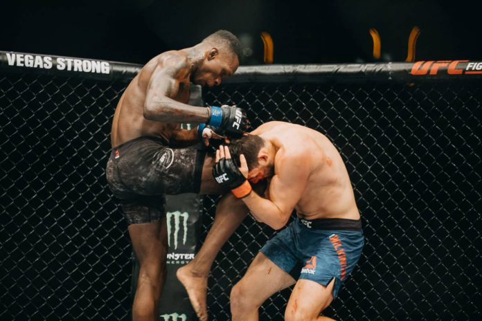 Israel Adesanya in UFC action