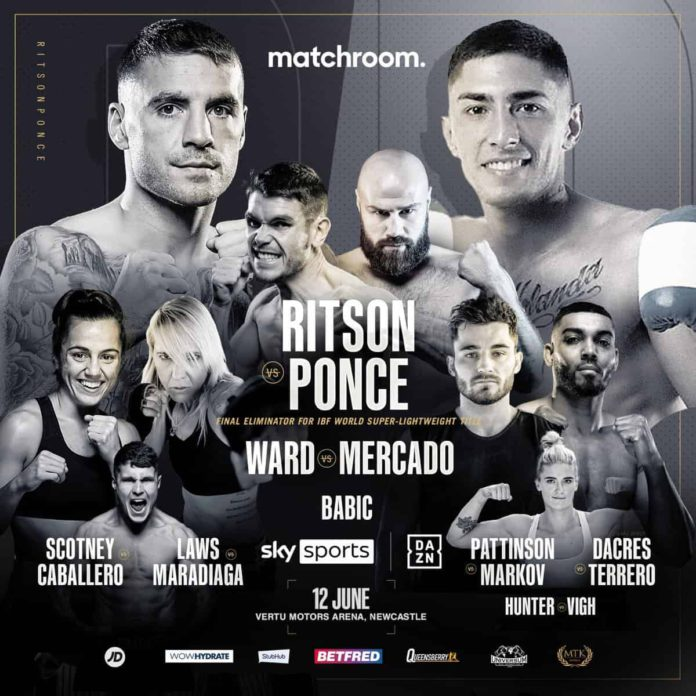 Ritson vs Ponce fight card
