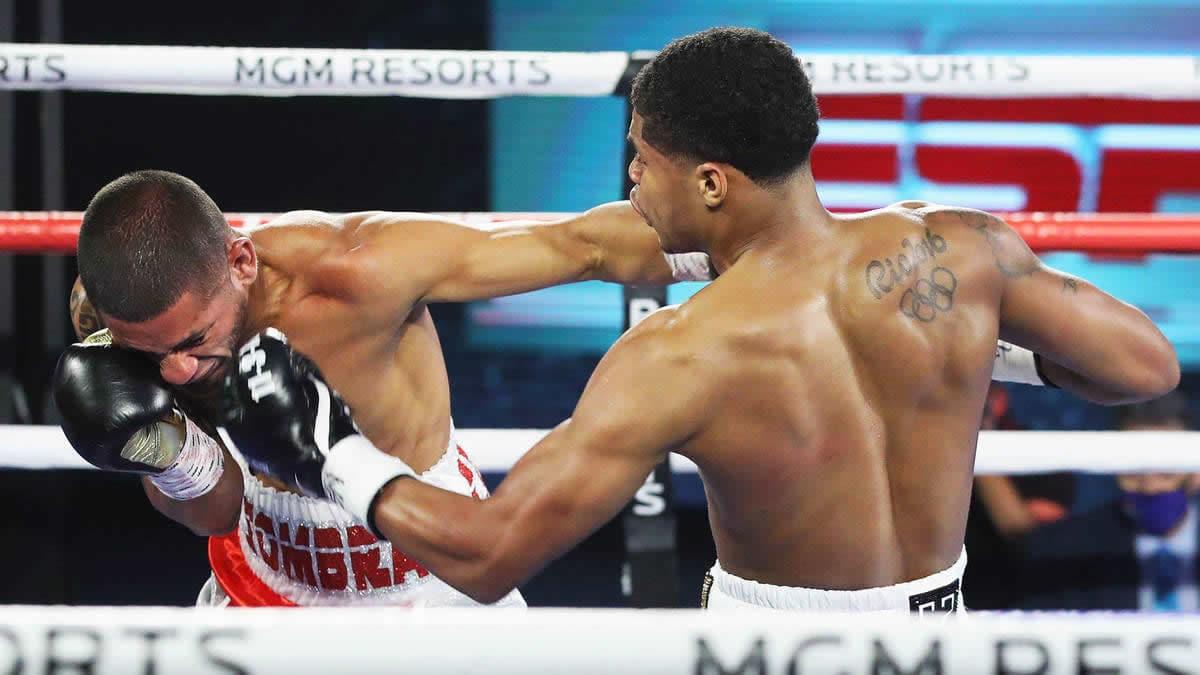 <p>Complete Fight Video: Shakur Stevenson KO's Felix Caraballo thumbnail