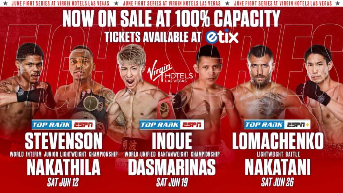 Top Rank Boxing events in June 2021