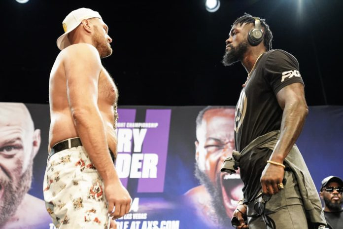 Tyson Fury vs Deontay Wilder faceoff