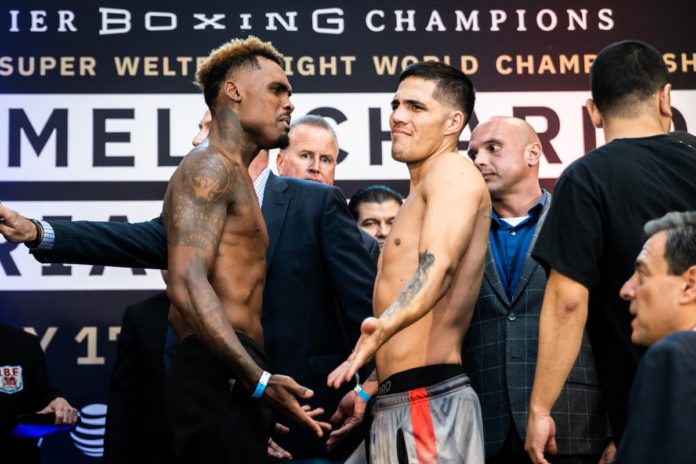 Jermell Charlo vs Brian Castano the weigh-in