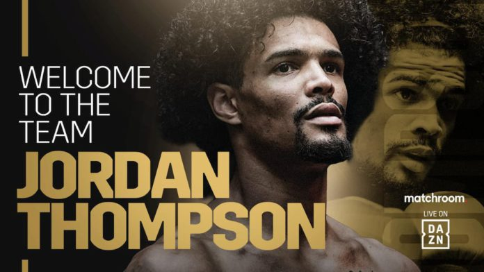Jordan Thompson signs with Matchroom Boxing