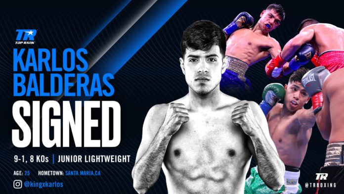 Carlos Balderas signs promotional deal with Top Rank Boxing