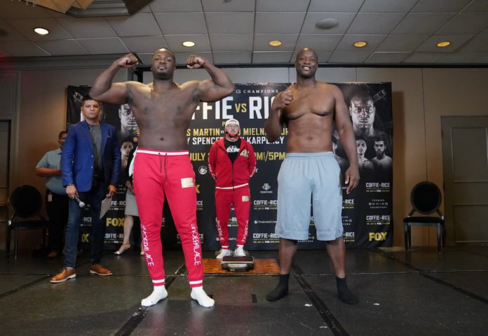 Michael Coffie vs Jonathan Rice weigh-in