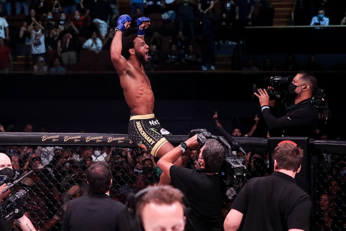 AJ McKee celebrates victory