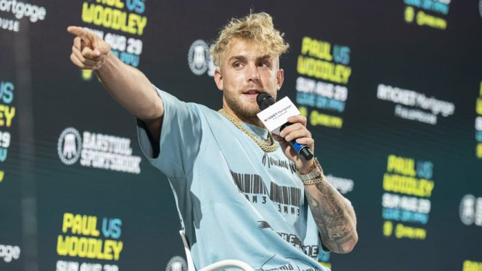 Jake Paul press conference ahead of Tyron Woodley fight