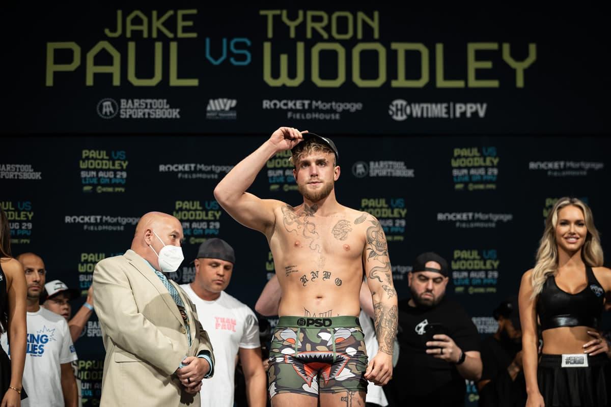 Jake Paul weighs-in