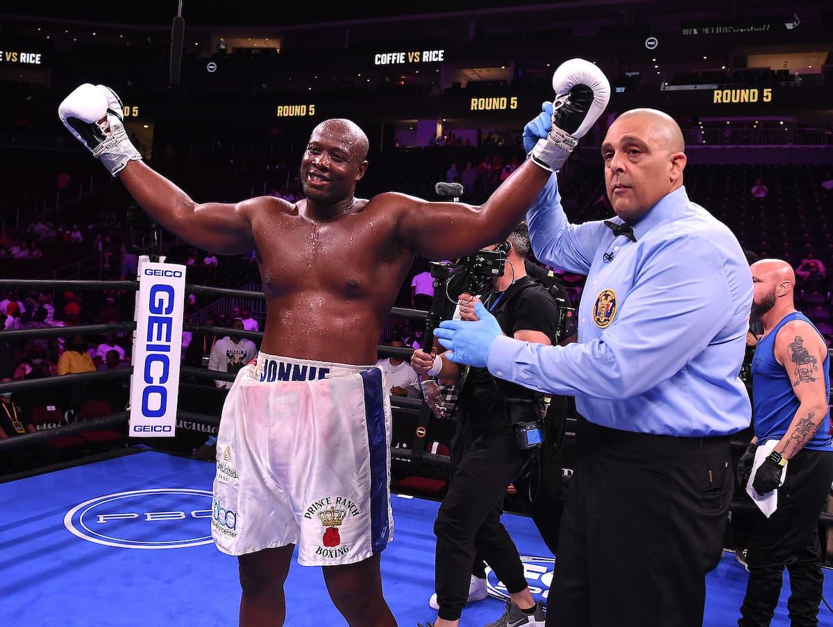 Jonathan Rice victorious