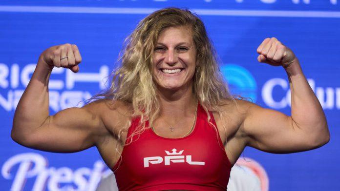 PFL lightweight Kayla Harrison weigh-in