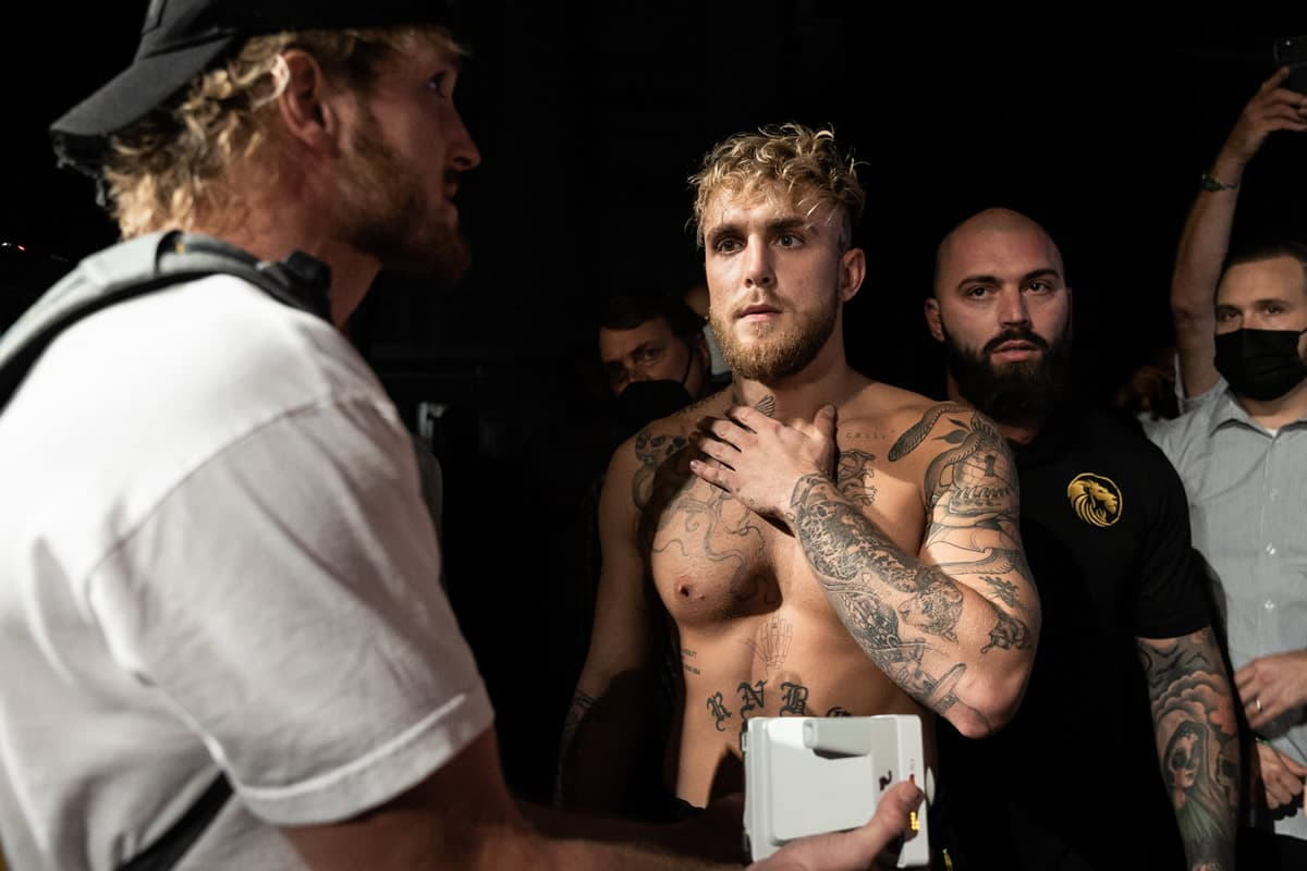 Jake Paul at weigh-in