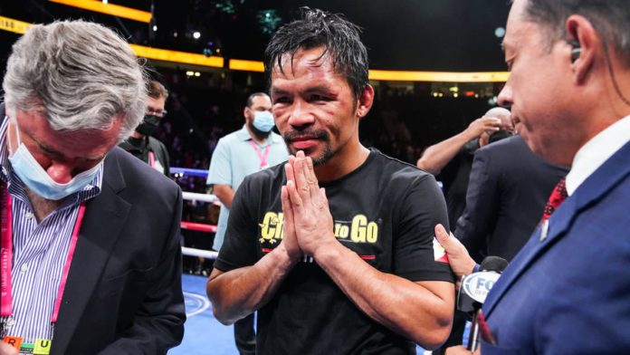 Manny Pacquiao post-fight against Yordenis Ugas
