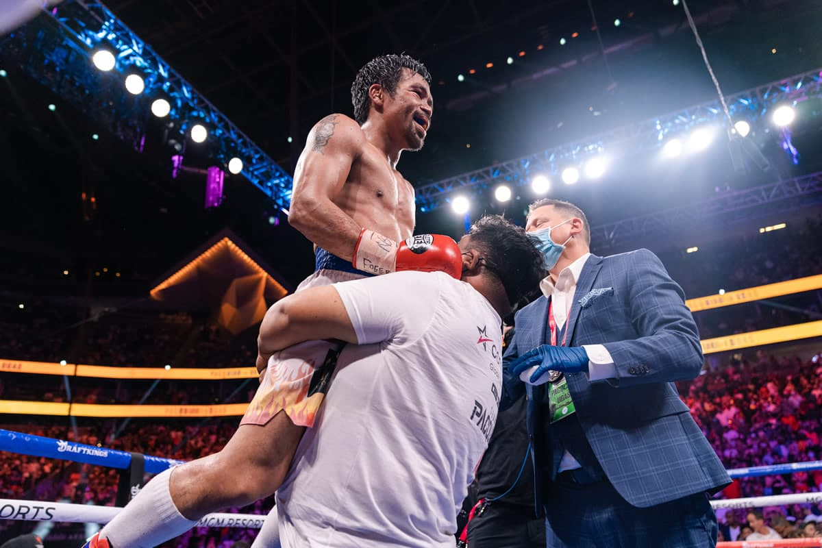 Manny Pacquiao post-fight