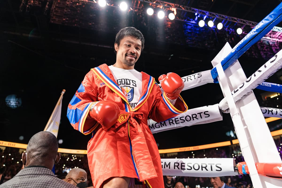 Manny Pacquiao walkout